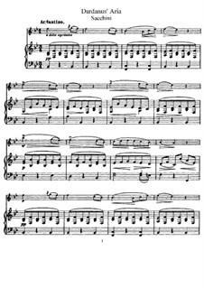 Dardanus: Aria, for Flute and Piano (score, part) by Antonio Maria Gasparo Giaccino Sacchini