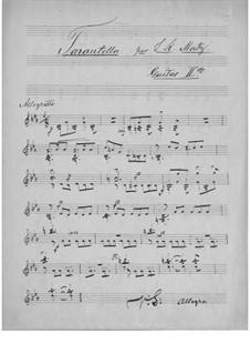 Tarantella für zwei Gitarren: Gitarrestimme II by Johann Kaspar Mertz