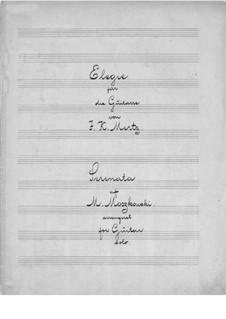 Elegie und Serenade: Elegie und Serenade by Johann Kaspar Mertz