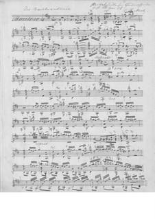 Die Nachtwandlerin, Op.35: Für Gitarre (Manuscript) by Johann Kaspar Mertz