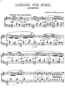 Heimweh, Op.117: Für Klavier by Albert Jungmann