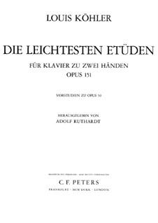 Zwölf leichte Etüden, Op.151: Für Klavier by Louis Köhler