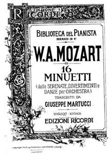 Sechzehn Menuette für Klavier: Vollsammlung by Wolfgang Amadeus Mozart