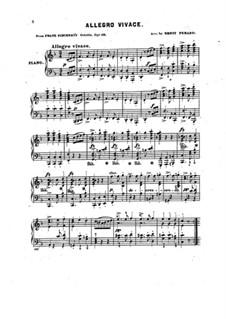 Oktett für Streicher und Bläser in F-Dur, D.803 Op.166: Teil III. Version für Klavier by Franz Schubert