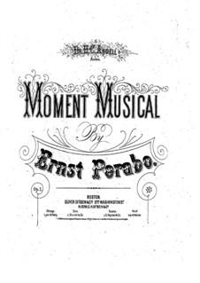 Musikalische Momente, Op.1: Musikalische Momente by Ernst Perabo