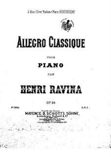 Klassisch Allegro, Op.94: Allegro by Jean-Henri Ravina