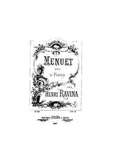 Menuett e-Moll, Op.100: Menuett e-Moll by Jean-Henri Ravina