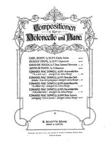 Nr.1, 3, 6, 10: Version für Cello und Klavier by Edward MacDowell