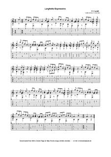 Larghetto Espressivo: Für Gitarre by Ferdinando Carulli