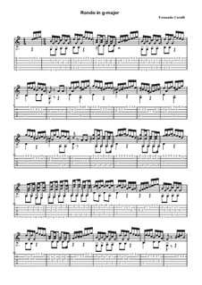 Vier Rondos für Gitarre: Rondo in G-Dur by Ferdinando Carulli