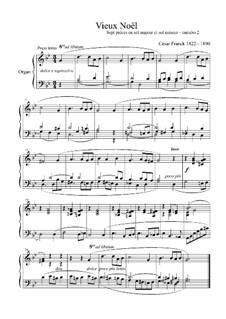 L'Organiste. Neunundfünfzig Stücke für Harmonium: Stück Nr.2 in g-Moll 'Vieux Noël' by César Franck