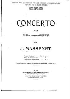 Klavierkonzert in Es-Dur: Teil I. Version für zwei Klaviere, vierhändig by Jules Massenet