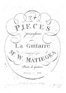 Vierundzwanzig progressive Stücke : Heft II Nr.7-12 by Wenzel Thomas Matiegka