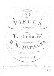 Vierundzwanzig progressive Stücke : Heft IV Nr.19-24 by Wenzel Thomas Matiegka