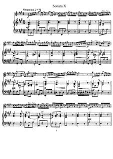 Sonate Nr.10: Version für Flöte und Klavier, Solostimme by Johann Mattheson