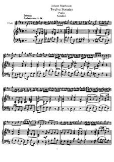 Sonate Nr.1: Version für Flöte und Klavier, Solostimme by Johann Mattheson