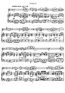 Sonate Nr.11: Version für Flöte und Klavier, Solostimme by Johann Mattheson