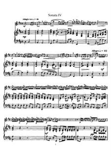 Sonate Nr.4 : Version für Flöte und Klavier, Solostimme by Johann Mattheson