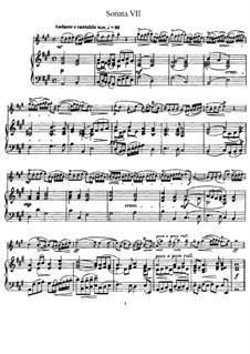 Sonate Nr.7: Version für Flöte und Klavier, Solostimme by Johann Mattheson