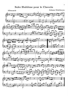 Suite Nr.8 in d-Moll: Suite Nr.8 in d-Moll by Johann Mattheson