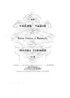 Thema und Variationen für Violine, Gitarre und Cello, Op.18: Gitarrestimme by Henry Pirmez