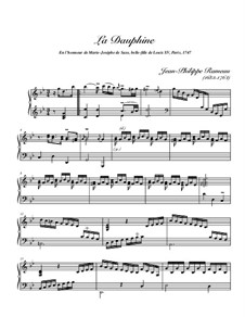 La Dauphine, RCT 12: Für Cembalo (high quality sheet music) by Jean-Philippe Rameau
