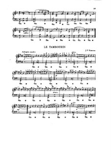 Cembalosuite in e-Moll, RCT 2: Tambourin. Version for piano by Jean-Philippe Rameau