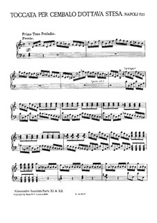 Tokkata für Cembalo: Für einen Interpreten by Alessandro Scarlatti
