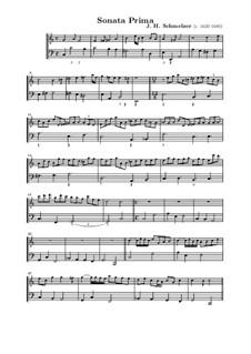 Sechs Sonaten für Violine und Basso Continuo: Vollsammlung by Johann Heinrich Schmelzer