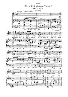 Sechs Lieder, Op.34: Klavierauszug mit Singstimmen by Robert Franz