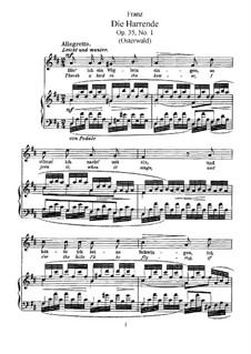 Sechs Gesänge, Op.35: Klavierauszug mit Singstimmen by Robert Franz