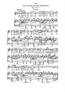 Zwölf Gesänge, Op.5: Vollsammlung by Robert Franz