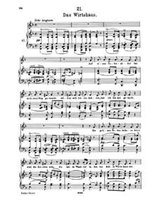 Nr.21 Das Wirtshaus: Klavierauszug mit Singstimmen by Franz Schubert