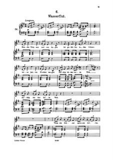 Nr.6 Wasserflut: Klavierauszug mit Singstimmen by Franz Schubert