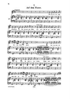 Nr.7 Auf dem Flusse: Klavierauszug mit Singstimmen by Franz Schubert