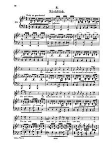 Nr.8 Rückblick: Klavierauszug mit Singstimmen by Franz Schubert