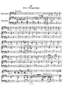 Nr.6 Der Neugierige: Klavierauszug mit Singstimmen by Franz Schubert