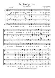 Romanzen und Balladen, Op.75: Nr.3 Der traurige Jäger by Robert Schumann