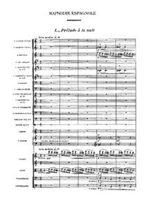 Spanische Rhapsodie, M.54: No.1 Prélude à la nuit by Maurice Ravel