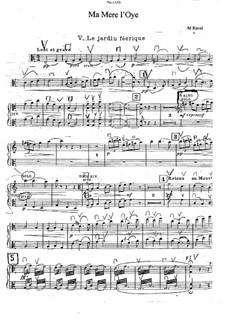 Meine Mutter die Gans. Suite, M.60: Nr.5 Der Feengarten für Orchester – Bratschenstimme by Maurice Ravel