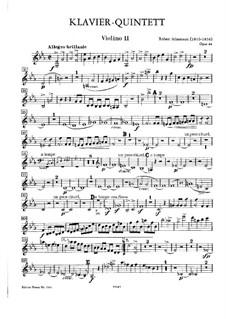 Klavierquintett in Es-Dur, Op.44: Violinstimme II by Robert Schumann