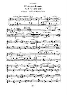 Zwei Sonaten für Klavier, Op.25: Nr.1 Märchen-Sonate by Nikolai Medtner
