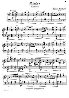 Minka. Mazurka für Klavier, Op.158: Minka. Mazurka für Klavier by Georg Eggeling