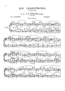 Sonate für Cembalo (oder Klavier) in g-Moll: Sonate für Cembalo (oder Klavier) in g-Moll by Giovanni Battista Martini