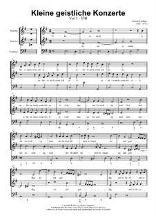 Kleine geistliche Konzerte, Op.8: Nr.8 Erhöre mich, wenn ich rufe, SWV 289 by Heinrich Schütz