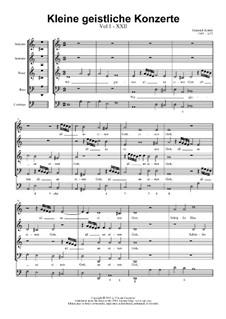 Kleine geistliche Konzerte, Op.8: Nr.22 Wir gläuben all an einen Gott, SWV 303 by Heinrich Schütz