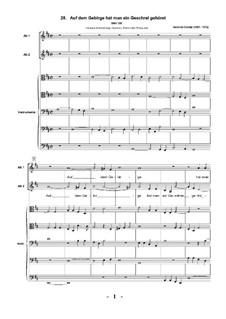 Geistliche Chormusik, Op.11: Nr.28 Auf dem Gebirge hat man ein Geschrei gehöret, SWV 396  by Heinrich Schütz