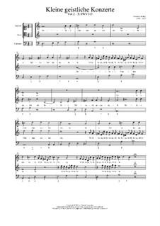Kleine geistliche Konzerte, Op.9: Nr.10 Hodie Christus natus est, SWV 315 by Heinrich Schütz