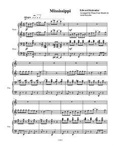 Mississippi: Für Klavier, vierhändig by Edward Kalendar