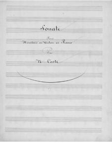 Sonate für Oboe (oder Violine) und Klavier: Sonate für Oboe (oder Violine) und Klavier by Napoléon Coste